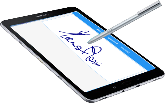Firma calligrafa via Web